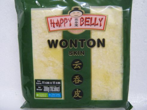 Wonton Skin, Wantan Blätter, 11x11cm, 300g, Happy Belly
